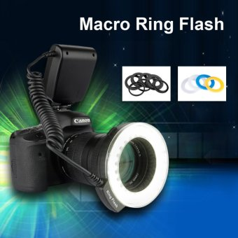 Harga Excelvan CN48 LED Ring Flash Light With Four Diffusers