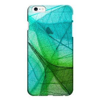 Harga Wonder Cover Leaves Transparent Hard Case for iPhone 6 Plus (Green)