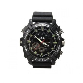 Harga W1000 8G HD 1080P Night Vision Spy Watch with Hidden Camera - intl