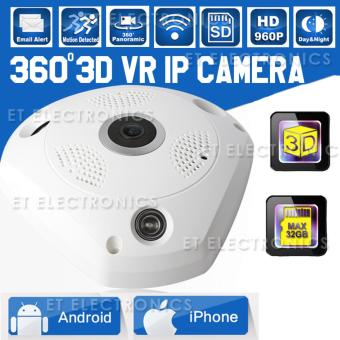 Harga HD 960P VR IP Camera WiFi Fisheye Lens 1.3MP 3D Panoramic Camera Security Wireless Night Vision CCTV Surveillance Cams