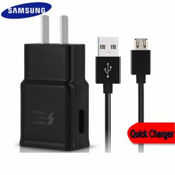 Travel / Home Quick Charger For Samsung Galaxy S6 / S6 Edge / Edge+ / S7 / S7Edge / S8 / S8 Plus Whit USB Cable (Black) Price Philippines