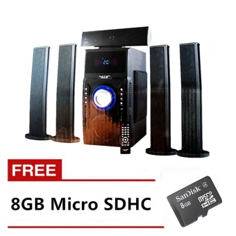 ACE Music Heaven SUB-96AC Bluetooth 5.1 Channel Home Theater System (Black) with FREE 8GB Memory Card Price Philippines