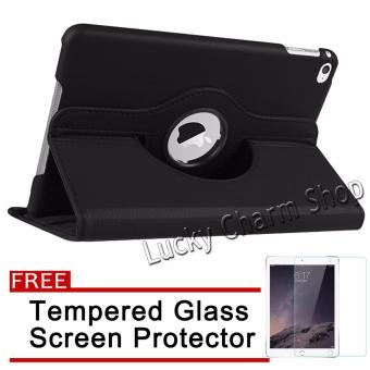 360 Degree Roation Flip Leather Case for Apple iPad Pro 9.7 / iPad 7 (Black) with Free Tempered Glass Screen Protector Price Philippines