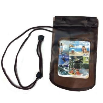 Harga ET-801 Water Proof Bag with Underwater Back Cover Case for Smart Phones (Brown)