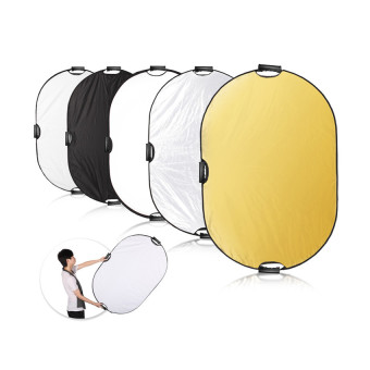5-in-1 24x36 inch Oval Reflector with Handle for Photography Photo Studio Lighting & Outdoor Lighting Price Philippines