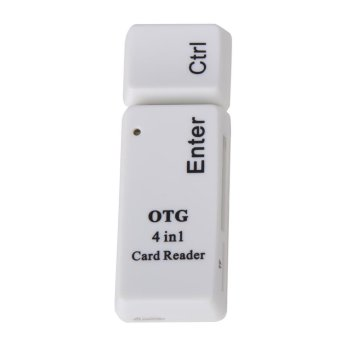 Harga New Creative USB2.0 + Micro OTG SD/TF/MS/M2 4 In 1 Phone Card Reader - intl