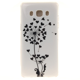 IMD TPU Phone Back Case for Samsung Galaxy J5 (2016) - Heart-shaped Floret - intl