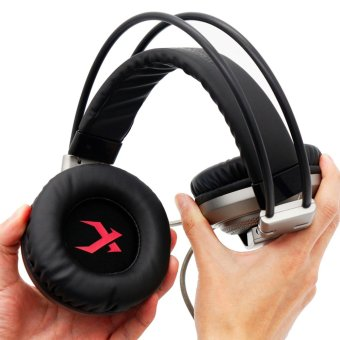 (Import)XIBERIA V10 USB Wired Vibration Deep Bass LED GamingHeadphone Headset with Mic for PC - intl - 2