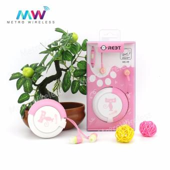 In-Ear Headset Earphone With Storage Box MC-95 (Pink)