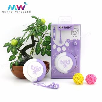 In-Ear Headset Earphone With Storage Box MC-95 (Purple) Price Philippines