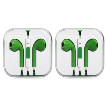 In Ear Headset fot Smartphones (Green) Set of 2
