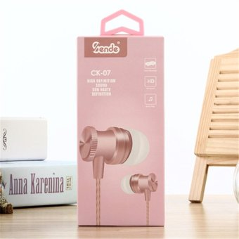In-Ear Stereo Metal Bass Head Earphone Music Headset (Pink) - intl