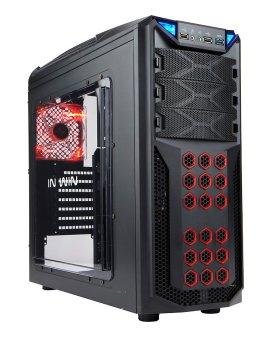 IN WIN GT1 Speed Race Design EZ-Swap Steel Design Gaming Case - Power Supply Not Included (Black)