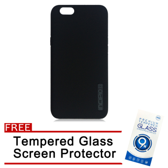 Incipio TPU Back Case Cover for OPPO F1S / A59 (Black) with FreeTempered Glass Screen Protector