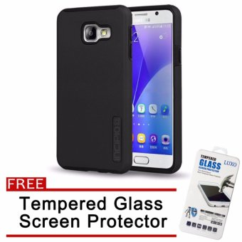Incipio TPU Back Case Cover for Samsung Galaxy A9 Pro (Black) withFree Tempered Glass Screen Protector