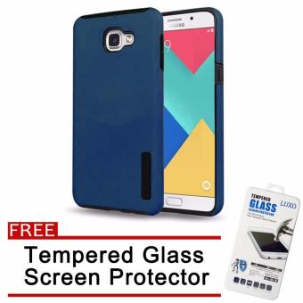 Incipio TPU Back Case Cover for Samsung Galaxy A9 Pro (Dark blue)with Free Tempered Glass Screen Protector