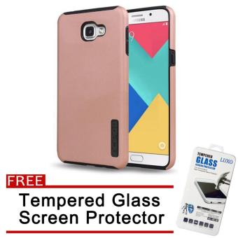 Incipio TPU Back Case Cover for Samsung Galaxy A9 Pro (Rose Gold)with Free Tempered Glass Screen Protector