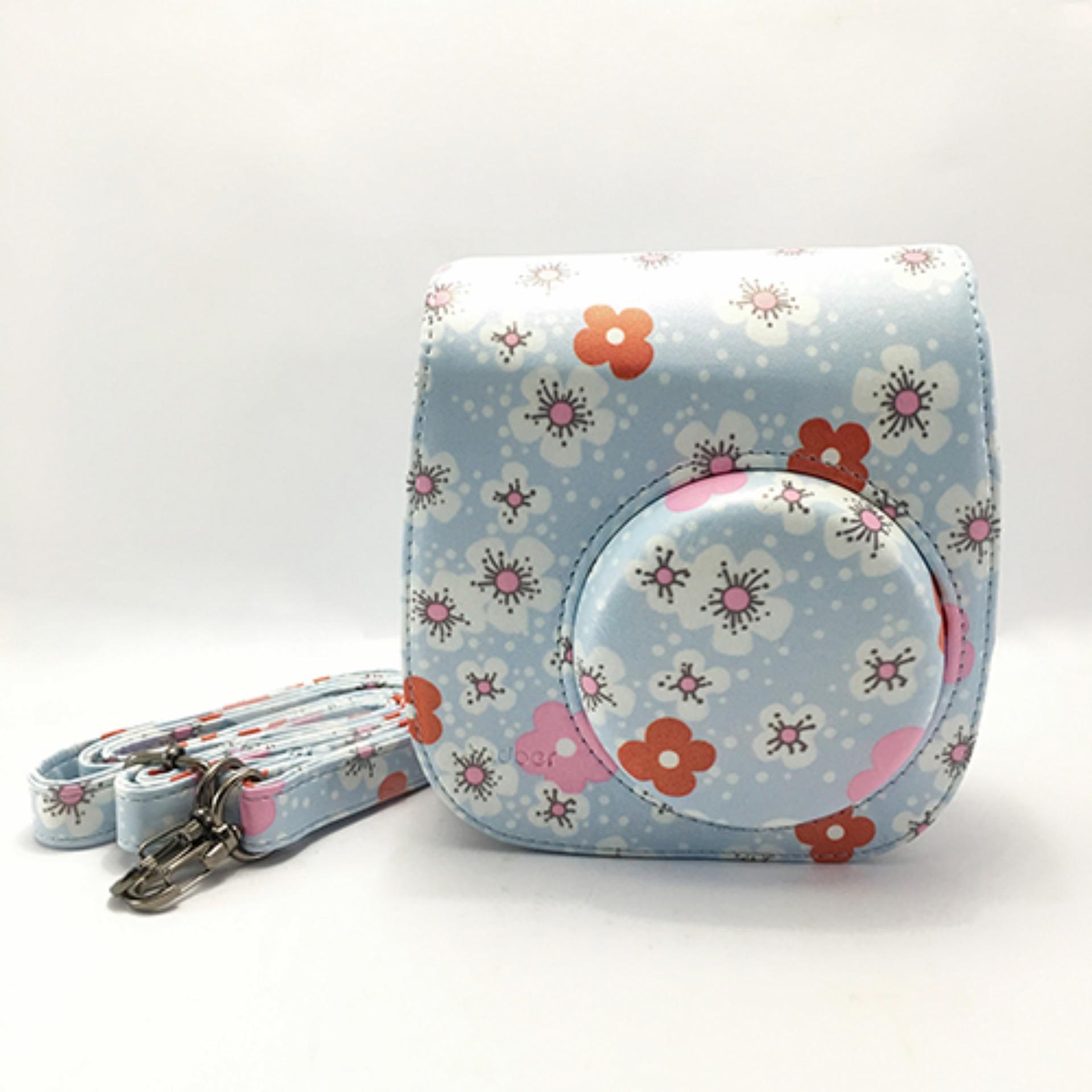 Instax Mini 8 Leather Bag - Cherry Blossom