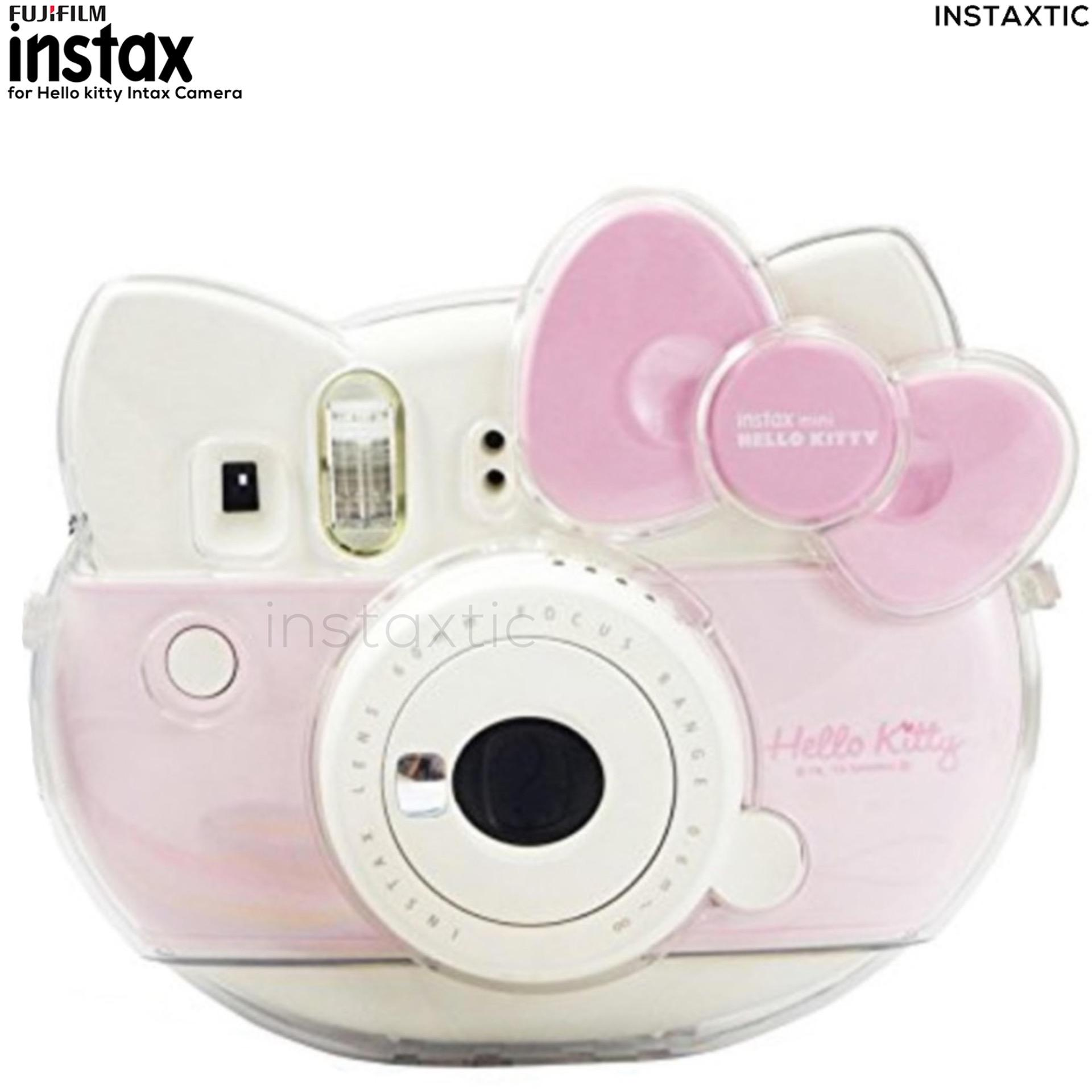 Instaxtic Transparent Clear Plastic Case For Fujifilm Instax Mini 8 Hello Kitty Face Camera HK
