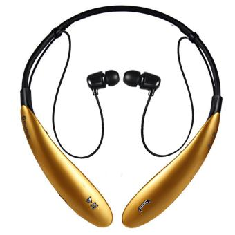 IOS HBS-800 Bluetooth V4.0 Sports Neckband Headset (Gold) Price Philippines