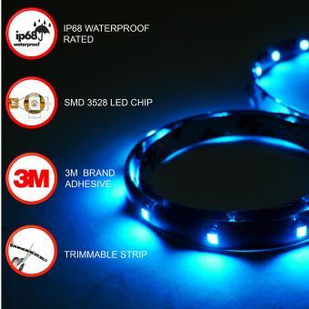 IP68 Rated 60cm (Blue) WaterProof LED Strip Tape Light
