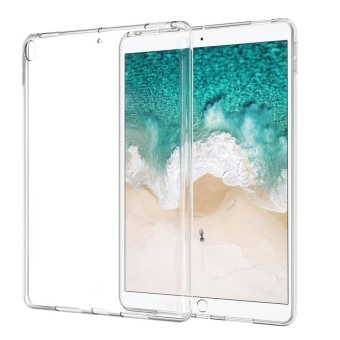 iPad Pro 10.5 Case, Premium Flexible Soft TPU Case Ultra Slim Shockproof Anti Slip Back Cover Protector Case for Apple iPad Pro 10.5 Inch 2017 Tablet(Clear) - intl