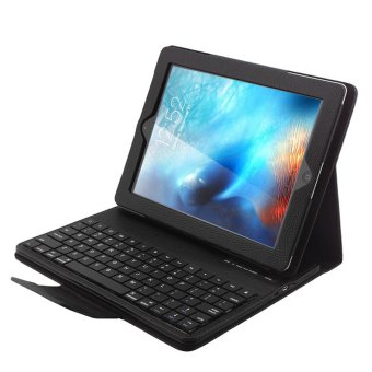 iPad Pro 9.7 Keyboard - PENNY, [New Detachable Version]Magnetically Detachable Hidden Wireless Bluetooth KeyboardMuti-angle Folio PU Leather Case Smart Cover For Apple iPad Pro 9.7Inch (2016) - intl