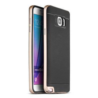 iPaky Neo Hybrid Luxury Silicone Case for Samsung Galaxy Note 5(Gold)
