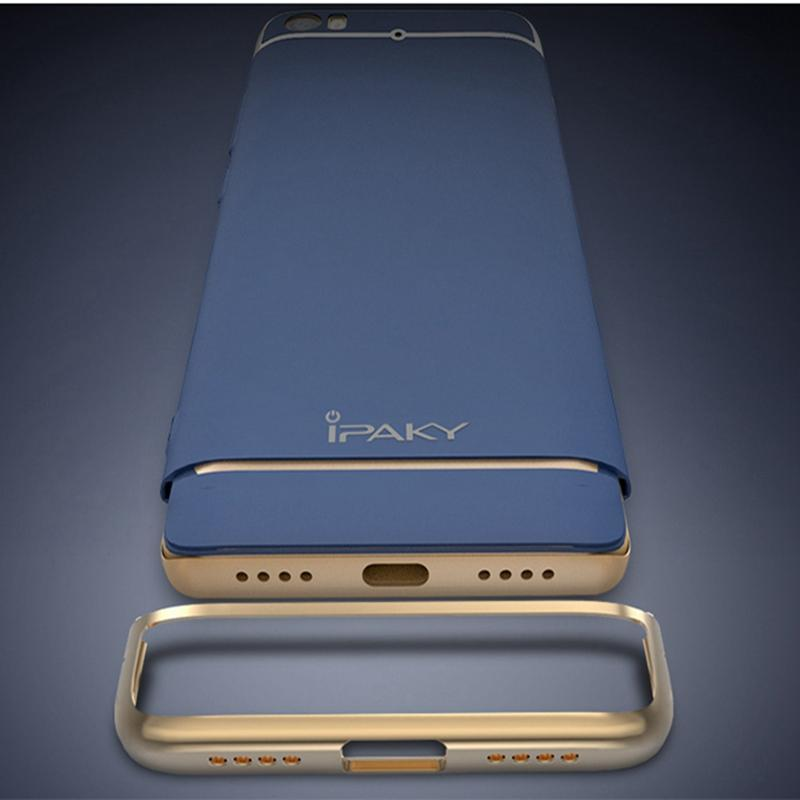 IPAKY Original IPAKY Full Protection Mi5 Case 3in1 Plating MatteBack Cover Coque Housing .