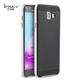 iPaky Slim TPU+PC Shockproof Hybrid Case for Samsung Galaxy A7A7100 2016 (Silver)