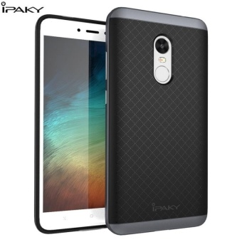 iPaky Slim TPU+PC Shockproof Hybrid Case for Xiaomi Redmi Note 4X -grey