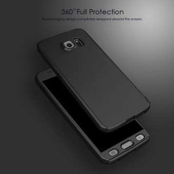 IPAKY Ultra-Thin 360 Degrees Full Body Protective Case For SamsungGalaxy S7 Edge (Black)
