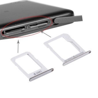 IPartsBuy For Samsung Galaxy E5 (Dual SIM Version) SIM Card Tray +Micro SD / SIM Card Tray(Silver) Price Philippines