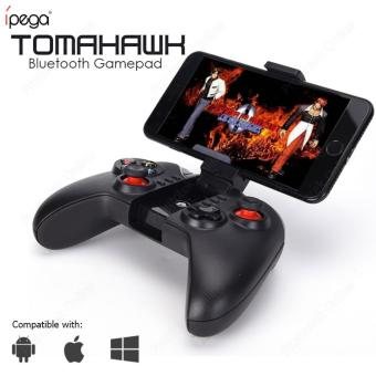 iPega PG-9068 Tomahawk PG 9068 Bluetooth Wireless Joystick Gamepad Gaming Controller Remote Control for Mobile Phone Tablet PC iOS Android TV Box (Black)