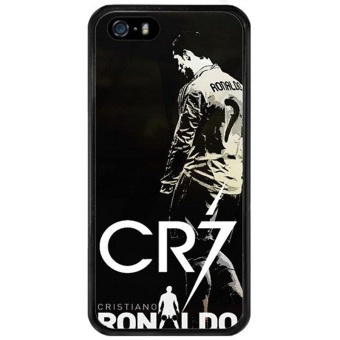 iphone 5s case,iphone 5 case. Unique DIY Designed Soccer PlayerCristiano Ronaldo soft rubber and pc black CR7 Classic style.iphonese case - intl Price Philippines