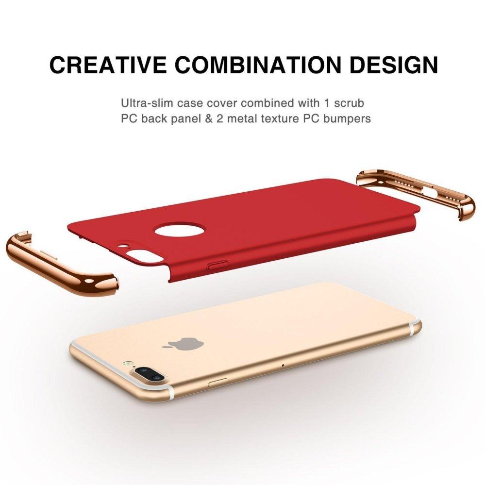 iPhone 7 Plus Case,GiMi Stylish Slim Hard Case with 3 DetachableParts .