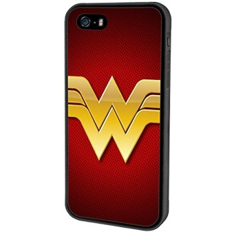 iPhone SE case, Onelee DC Wonder Women Logo [Durable Anti-Slip] TPUDefensive Case Compatible with Apple iPhone 5SE / 5S / 5 (Black) -intl Price Philippines