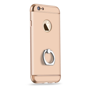 Iphone6plus rose gold matte fastened Ring phone case