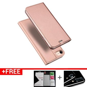 Iphone7P New Crashproof Flip Leather Magnet Phone Case for iPhone 7 Plus (Rose Gold)