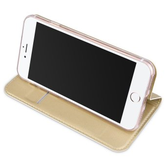 Iphone7P New Crashproof Flip Leather Magnet Phone Case for iPhone 7Plus (Gold) - 5
