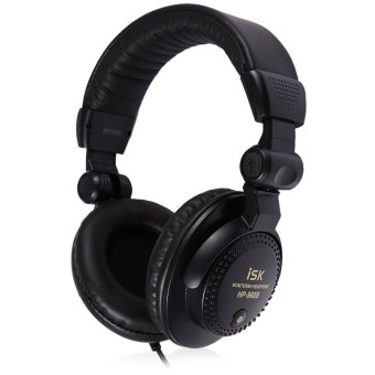 ISK HP-960B WIred Professional Studio Monitor Dynamic Stereo DJ Headphones HIFI Headset (Black)