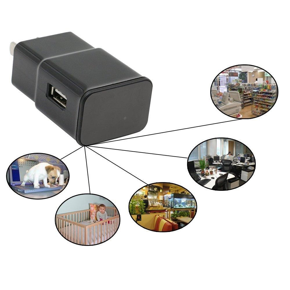 JDM 1080P USB Wall Charger Wifi Remote Control Spy Camera AdapterHidden Camera / Nanny Spy Camera Mini Camcorder Video Recorder CamSecurity & Surveillance Cameras with Built in 16GB Memory -intl