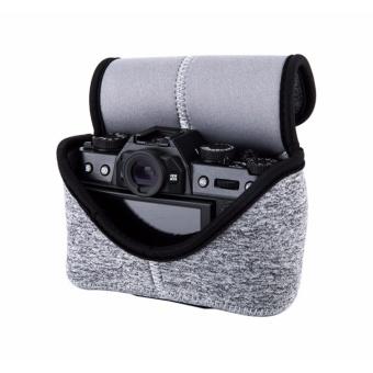 JJC Ultra Light Neoprene Mirrorless Camera Pouch Camera Case Bagfor Fujifilm X-T10 X-M1 X-A1 X-A2 X-A3 +16-50mm or 18-55mm Lens,Olympus E-M10II E-PL8 E-M5II+14-42mm II or 12-50mm Lens--Medium (upto 127 x 85 x 130mm) - intl - 4