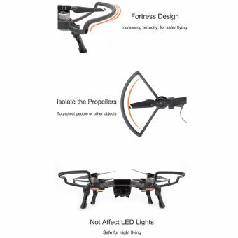 Joint Victory Propeller Guards Protectors with Foldable Landing Gear Leg Extenders 2 in 1 Combo for DJI Spark Drone - 4