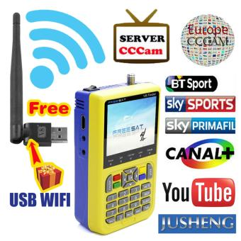 JUSHENG [Free USB WIFI] Freesat V8 Finder HD DVB-S2 High DefinitionSatellite Finder MPEG-2 MPEG-4 Freesat satellite Finder V8 - intl