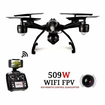 JXD 509W WIFI Real-Time Transmission 2.4GHz/APP cONTROL 720p cam 4CH 6-Axis Gyro Quadcopter Headless Mode (Black) Price Philippines