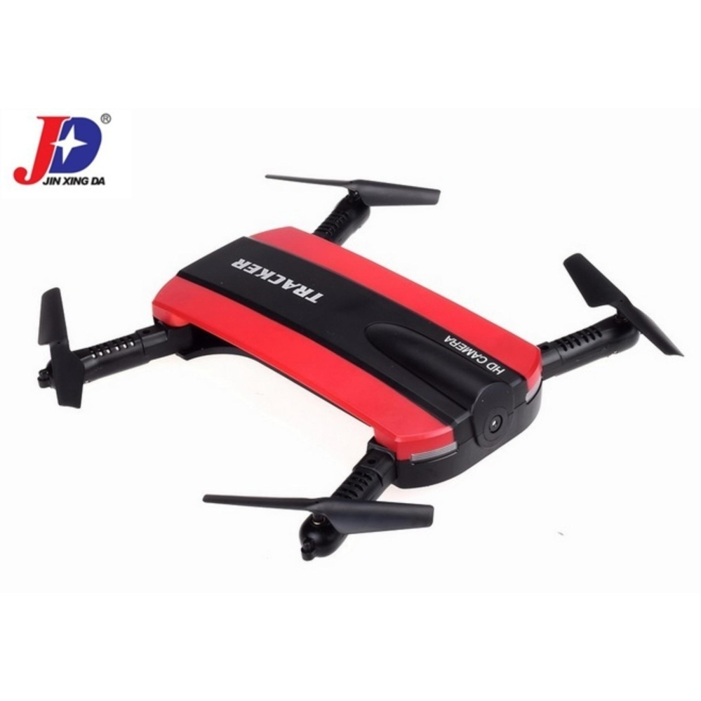 Jxd 523 Tracker Foldable Wifi Fpv Rc Quadcopter Hd Selfie Drone(Red) with Free Samsung In-Ear Earphones EO-IG955 For Samsung S8 /S8+ / Smartphone made in AKG (Black)
