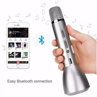 K-068 KTV Wireless Bluetooth Microphone (Silver) - 4