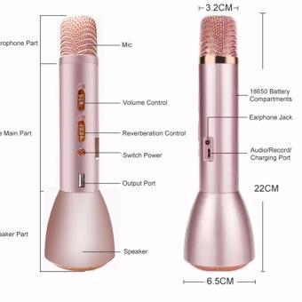 K-068 KTV Wireless Bluetooth Microphone (Silver) - 2