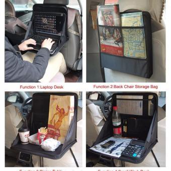 K-Bright Travel Car Laptop Notebook Stand Holder Tray Bag MountBack Seat Auto Food Work Table Organizer folding Car Seat BackStorage Tidy Organizer DVD Laptop Holder Work Tray Hold Travel -intl - 5